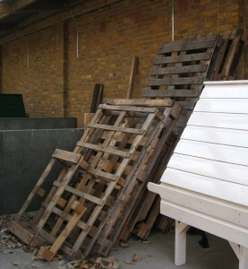 We still need more wooden pallets to complete the project.