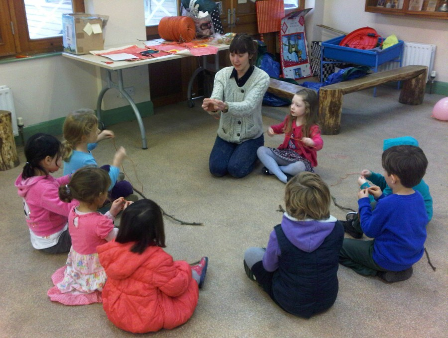 Children learn to tie a  clove hitch knot, and a reef knot for the 'Survivor' course.