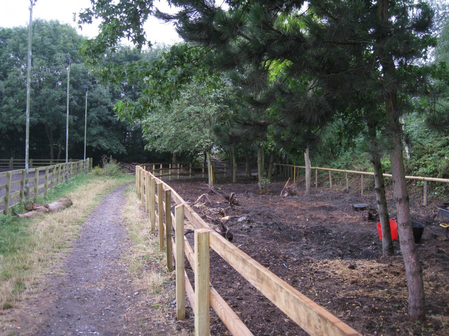 A new fence for the new pony paddock.