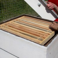 Assembling the hives.