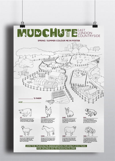 Mudchute A2 Colour-In poster